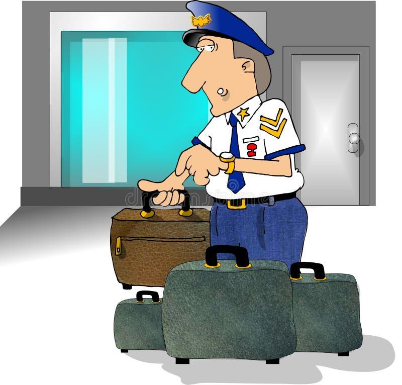 Sécurité dans les aéroports illustration stock