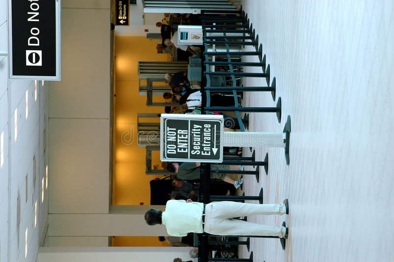 Sécurité dans les aéroports photo libre de droits