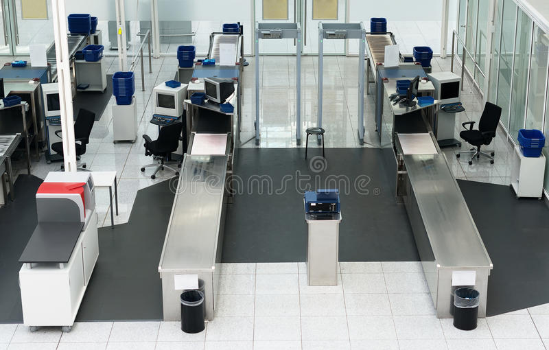 Sécurité dans les aéroports images stock