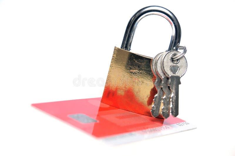 Sécurité de carte de crédit photographie stock