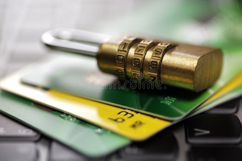 Sécurité de carte de crédit sur l'Internet image libre de droits