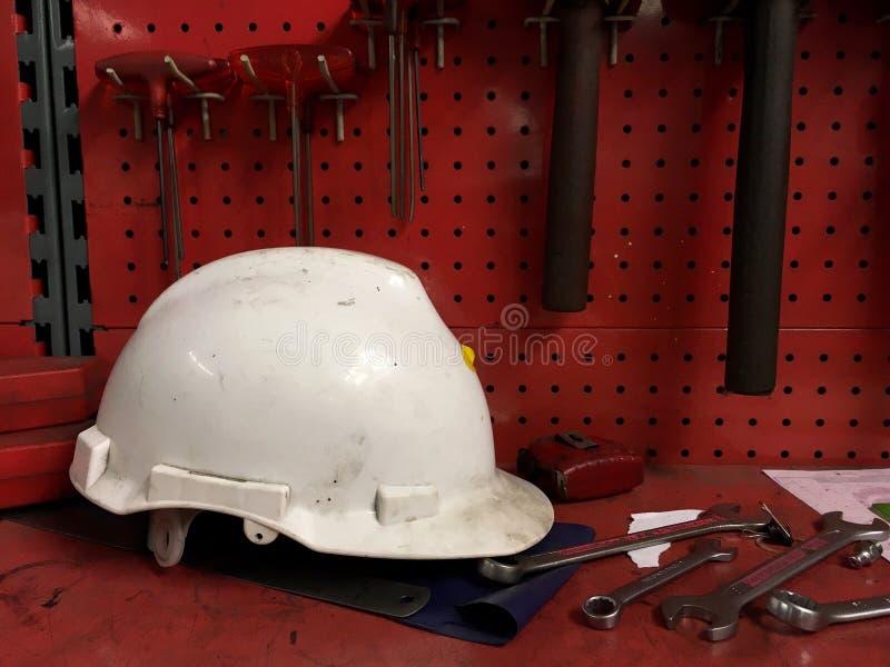 Sécurité de casque images stock
