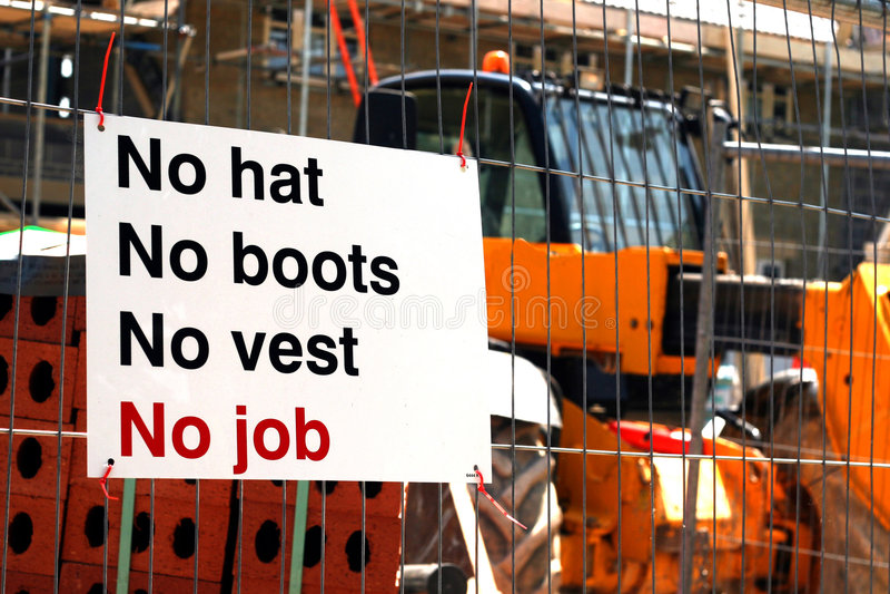 Sécurité de chantier de construction photographie stock