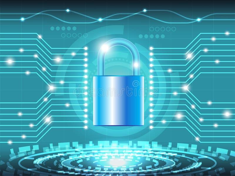 32 Sécurité 5 de Cyber illustration stock