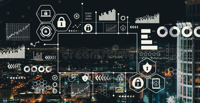 Sécurité de Cyber avec de la LA du centre photographie stock libre de droits