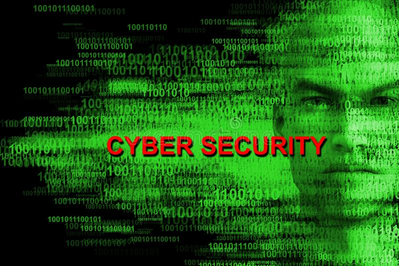 Sécurité de Cyber, entaillant, pirate informatique, ordinateurs photographie stock