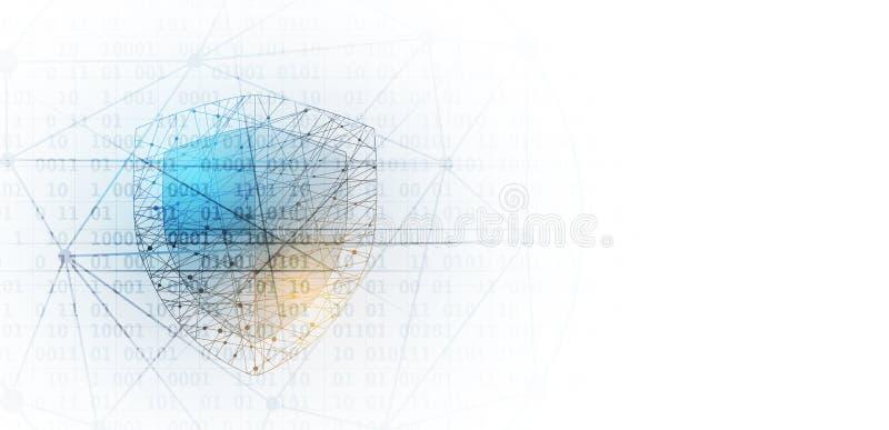 Sécurité de Cyber et protection de l'information ou de réseau Avenir technique illustration de vecteur