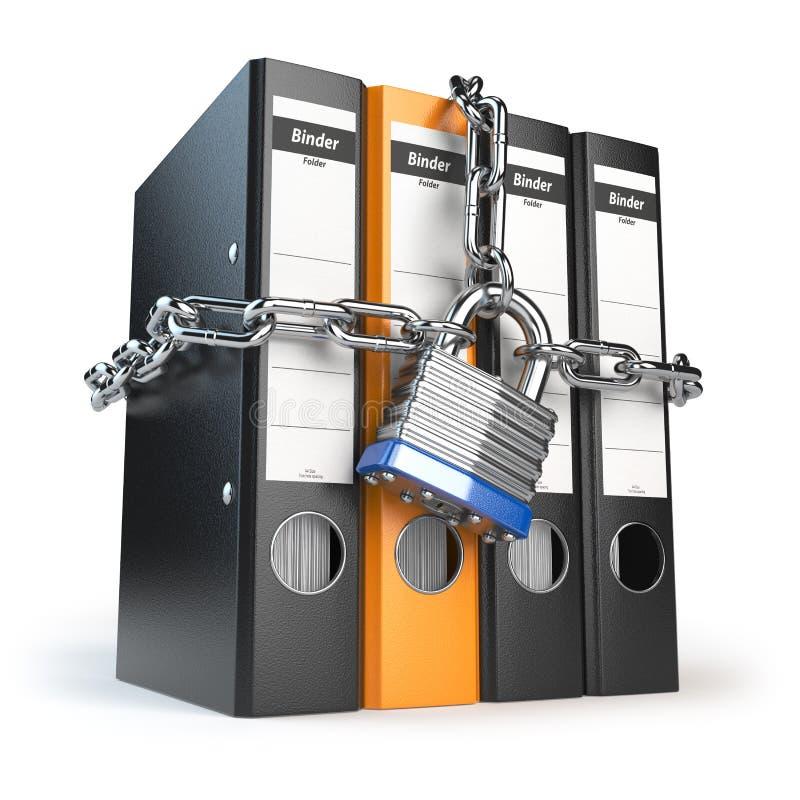 Sécurité de données et d'intimité Protection de l'information Dossier a illustration libre de droits
