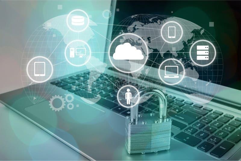 Sécurité de réseau illustration libre de droits