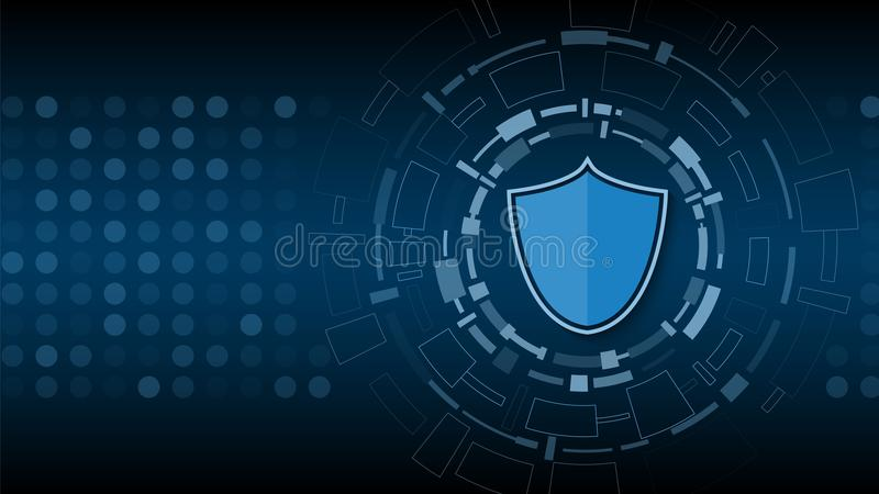 Sécurité de technologie de Cyber, conception de fond de protection de réseau, illustration stock