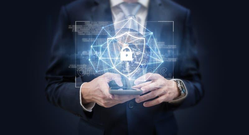 Sécurité et technologie du système en ligne de protection des données d'affaires et de réseau Internet L'?l?ment de cette image s images libres de droits