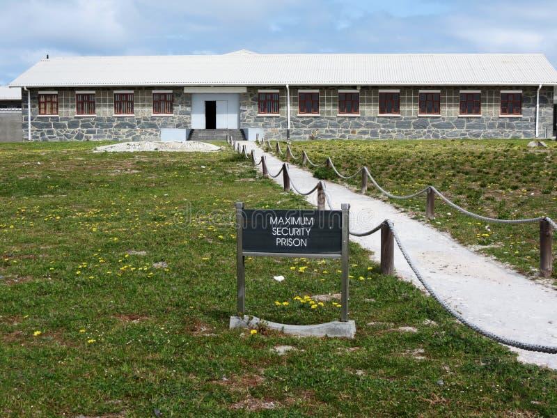 Sécurité maximum Prision en île de Robben image libre de droits