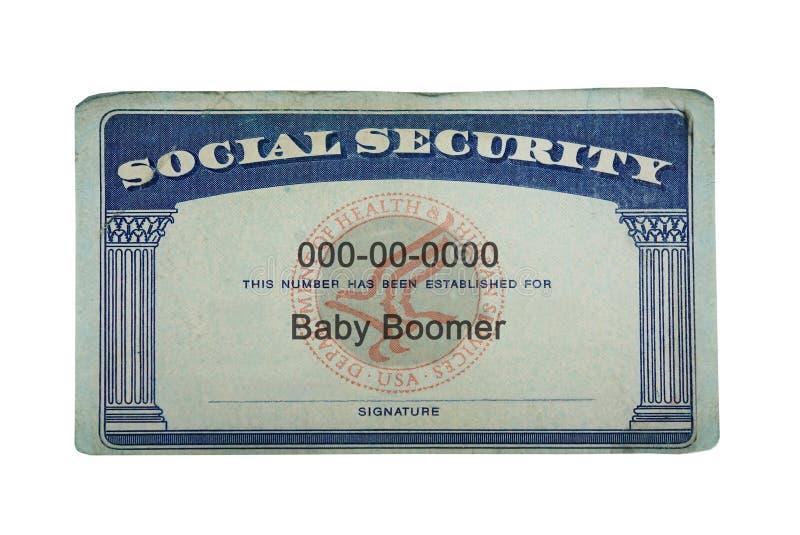 Sécurité sociale de baby boomer photos stock