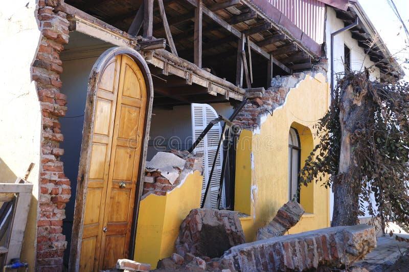 Séisme de Richter 8.8 au Chili photographie stock