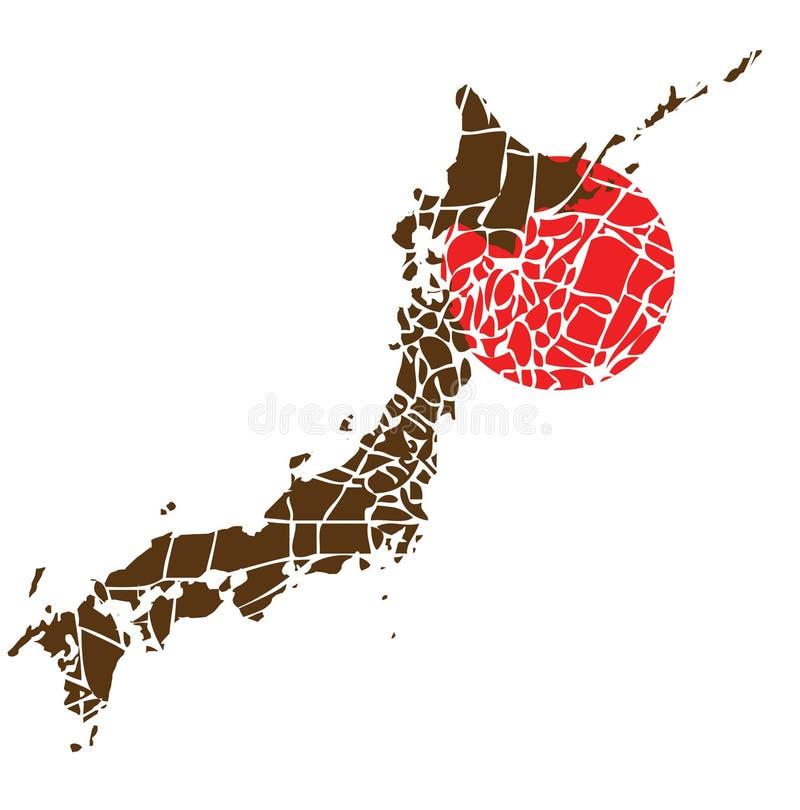 Séisme Japon illustration stock