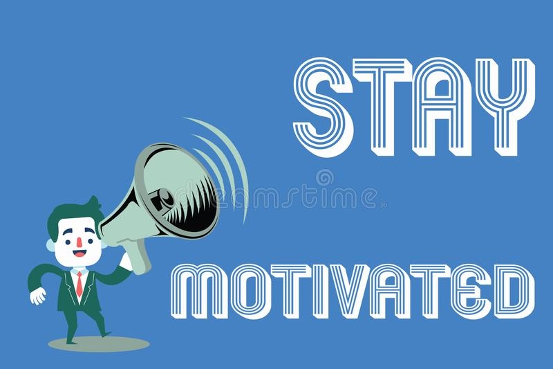 Séjour des textes d'écriture de Word motivé Concept d'affaires pour la récompense vous-même chaque fois que vous atteignez un but illustration stock