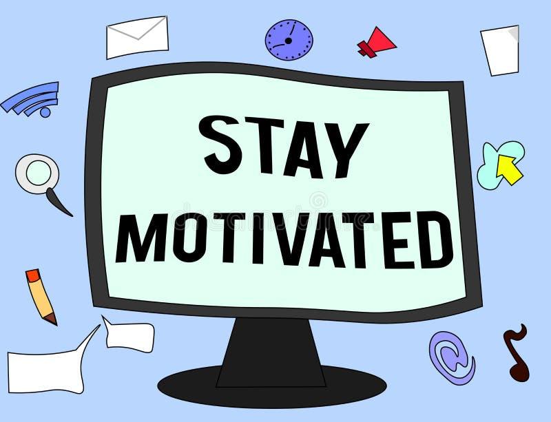 Séjour des textes d'écriture motivé Récompense de signification de concept vous-même chaque fois que vous atteignez un but avec l illustration stock
