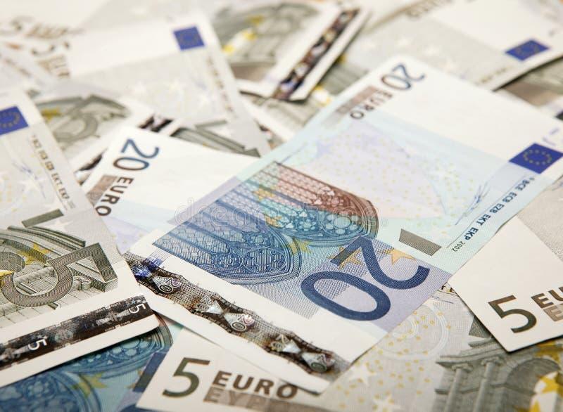 Sélection d'euro notes photo libre de droits