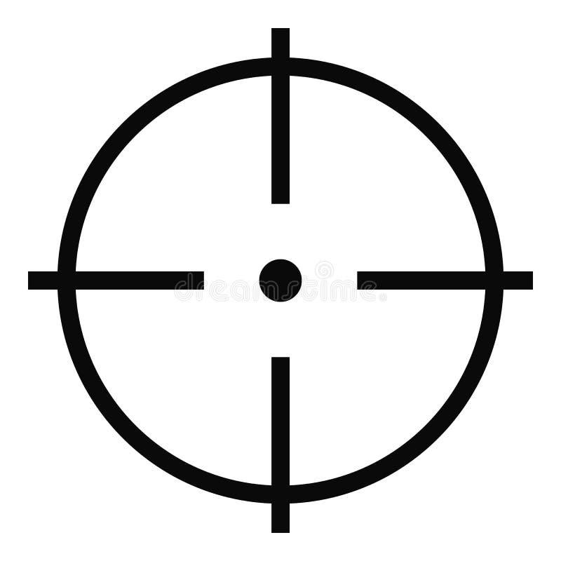 Sélection d'icône de cible, style simple illustration de vecteur