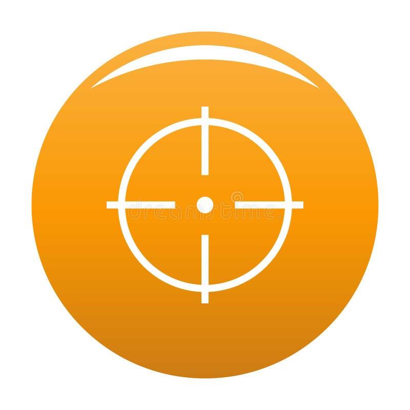 Sélection d'orange de vecteur d'icône de cible illustration stock