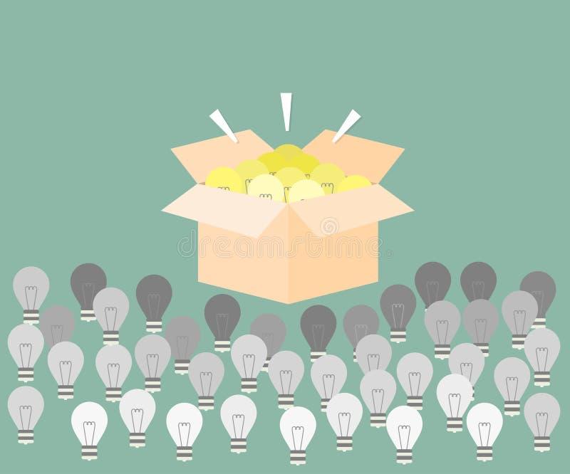 Sélection de bonnes idées illustration stock