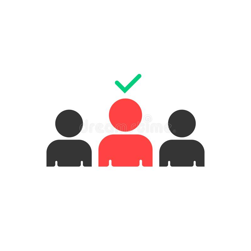 Sélection de bons employés à travailler illustration de vecteur
