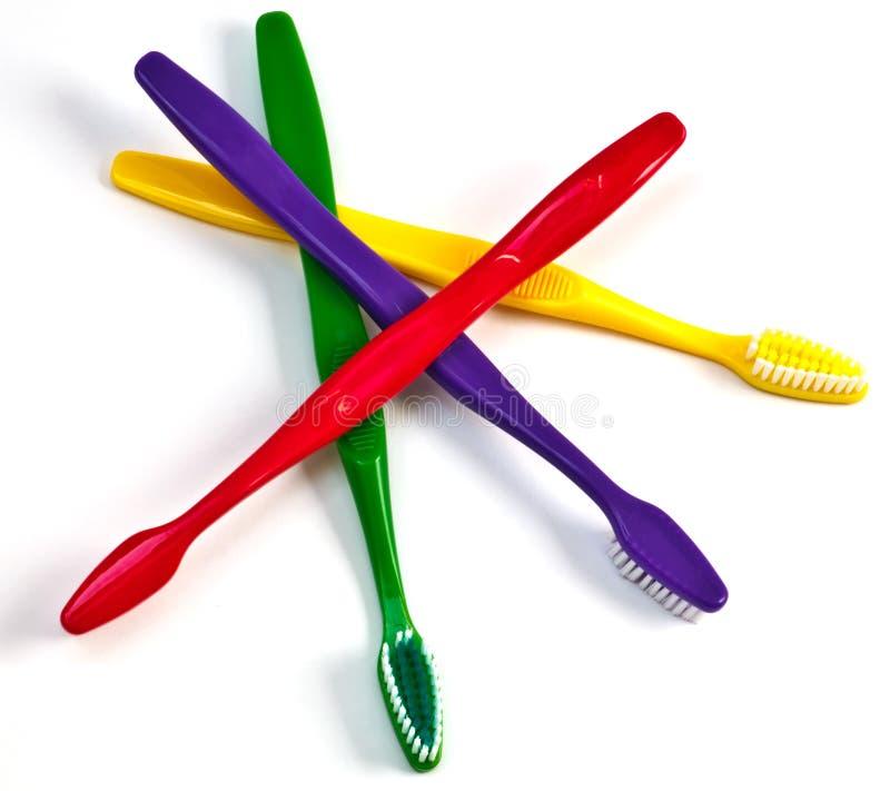 Sélection de brosse à dents photo libre de droits