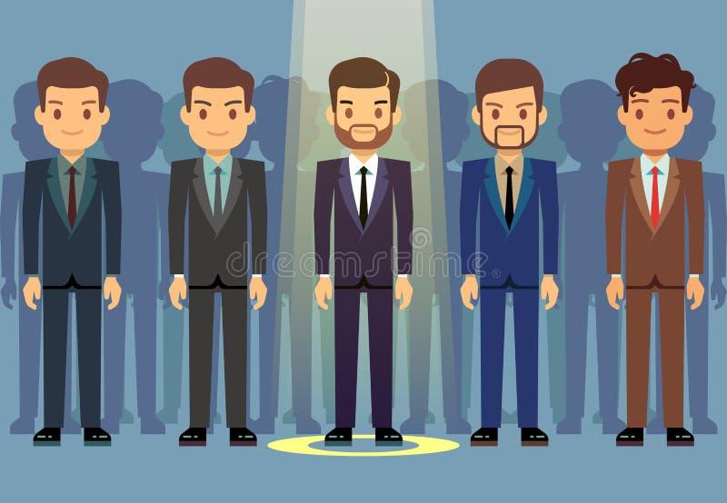 Sélection de candidat de travail des employés, concept de vecteur de recrutement d'affaires illustration libre de droits