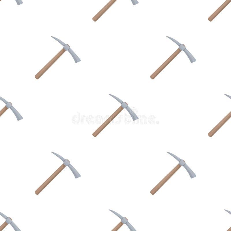Sélection de fer avec la poignée en bois en bois illustration stock