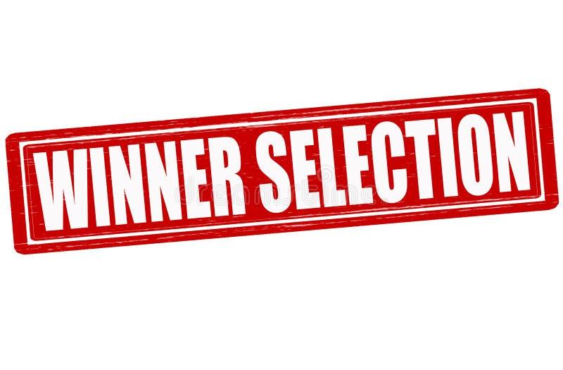 Sélection de gagnant illustration de vecteur