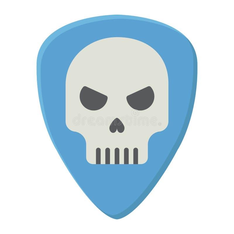 Sélection de guitare avec l'icône plate de crâne, musique illustration libre de droits
