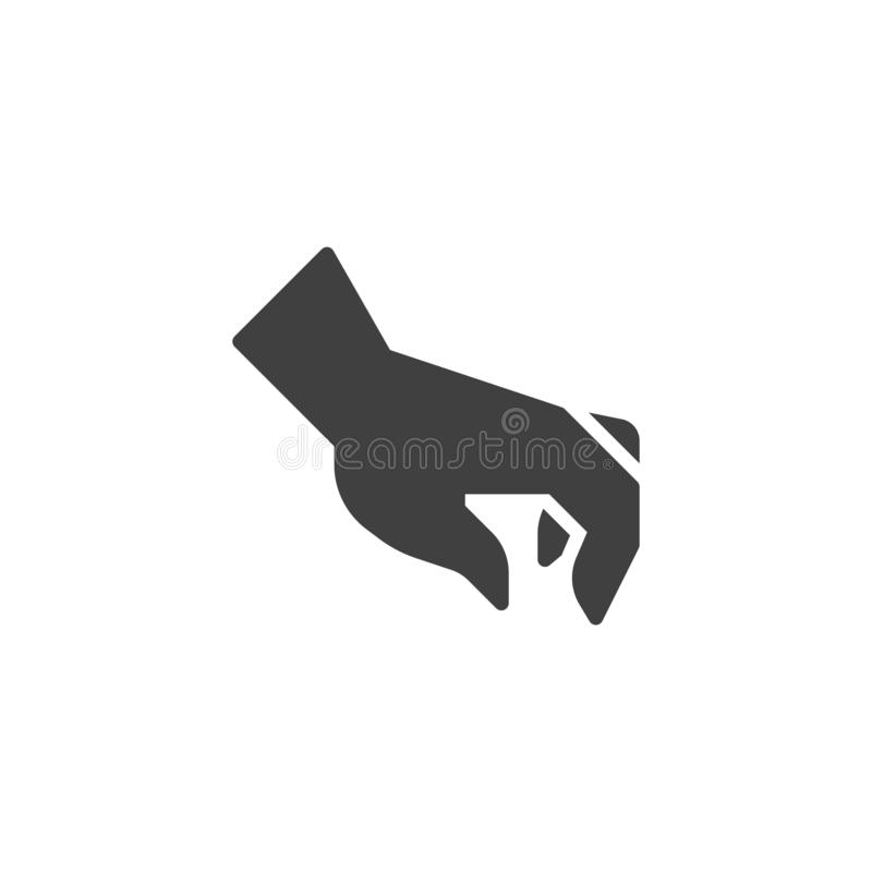 Sélection de l'icône de vecteur de geste de main illustration stock
