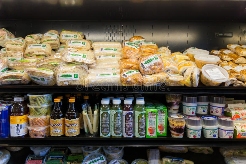 Sélection de nourriture de déjeuner d'épicerie images libres de droits