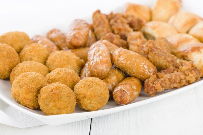 Sélection de nourriture de partie des Anglais photo stock