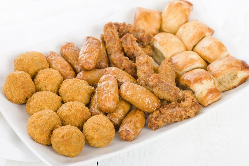 Sélection de nourriture de partie des Anglais images stock