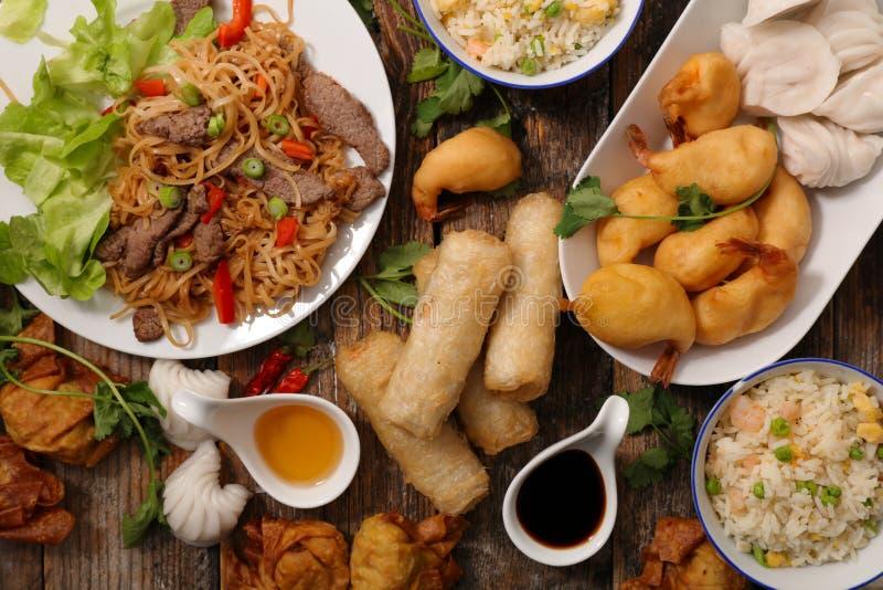 Sélection de nourriture de l'Asie images stock