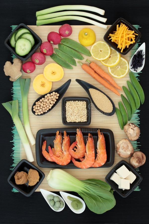 Sélection de nourriture de régime macrobiotique images libres de droits
