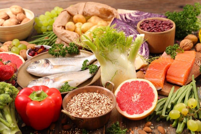 Sélection de nourriture saine photographie stock libre de droits