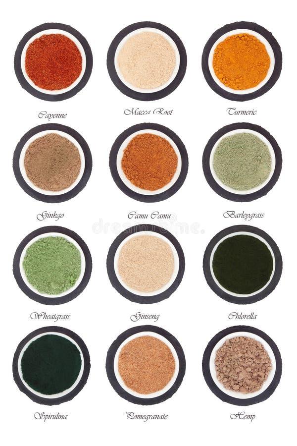 Download Sélection De Poudre De Nourriture Biologique Photo stock - Image du sain, orge: 45351744