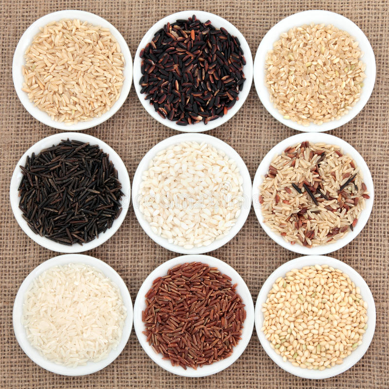 Sélection de riz image stock