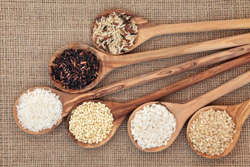 Sélection de riz images libres de droits