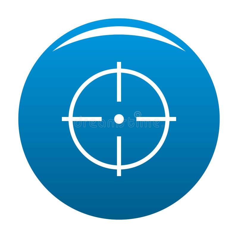 Sélection de vecteur de bleu d'icône de cible illustration libre de droits