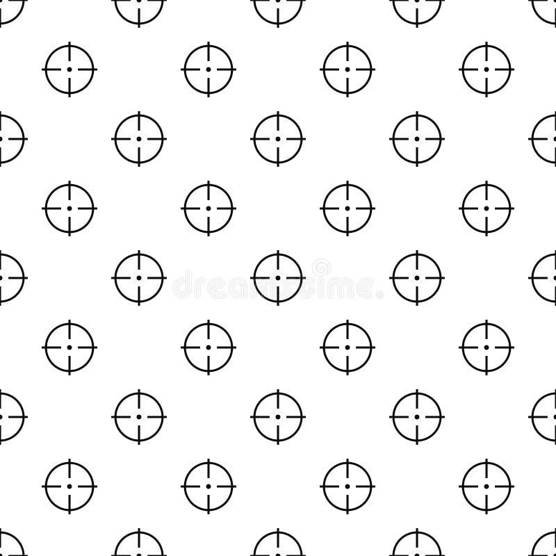 Sélection de vecteur sans couture de modèle de cible illustration de vecteur