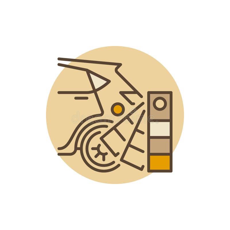 Sélection des couleurs automatique de peinture illustration stock