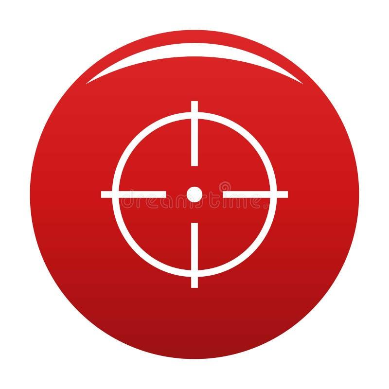 Sélection du rouge de vecteur d'icône de cible illustration libre de droits