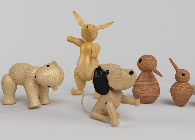 Sélection en bois de jouets illustration de vecteur