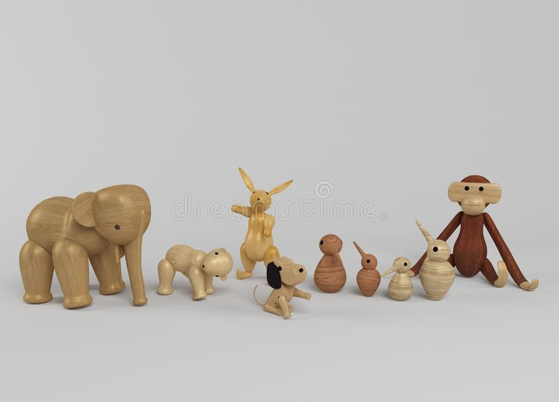 Sélection en bois de jouets illustration stock