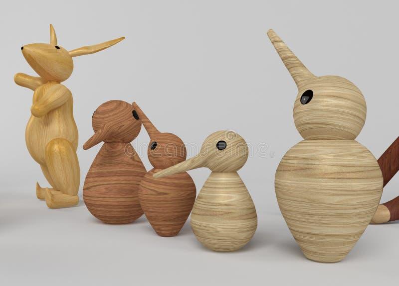 Sélection en bois de jouets illustration libre de droits