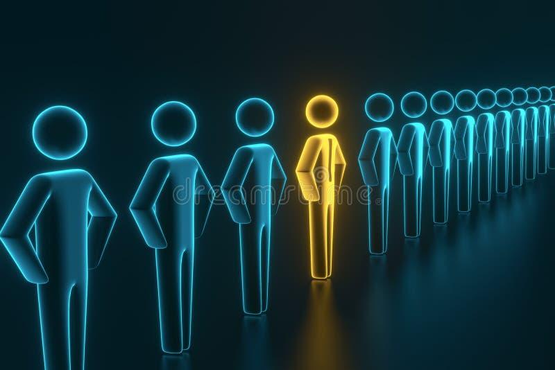 Sélection et recherche d'un employé ou d'un client supérieur rendu 3d illustration libre de droits