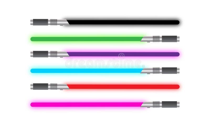 Sélection légère de solide d'épée illustration stock